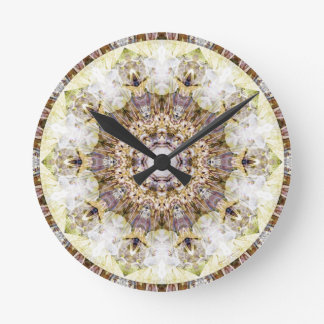 Relógio Redondo Mandalas do coração da liberdade 9 presentes