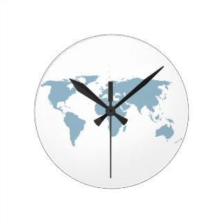 Relógio Redondo Mapa do mundo