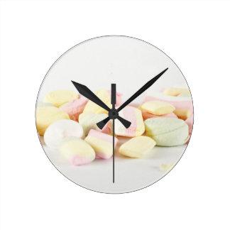 Relógio Redondo Marshmallows dos doces
