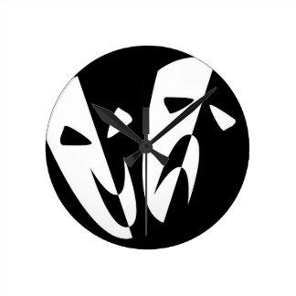 Relógio Redondo Máscaras do palco