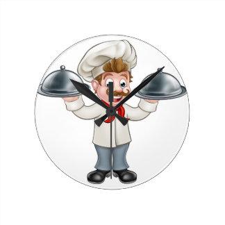 Relógio Redondo Mascote do personagem de desenho animado do