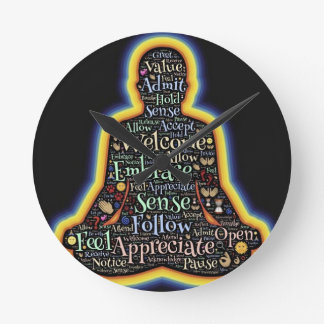 Relógio Redondo Meditação e tudo é
