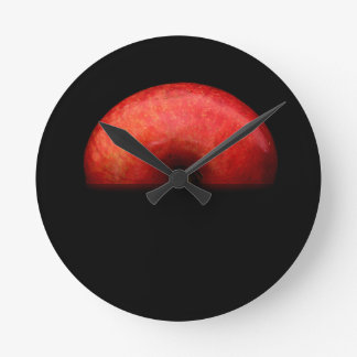 Relógio Redondo Meia fotografia da arte do retrato de Apple -