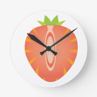 Relógio Redondo meia morango