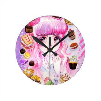 Relógio Redondo Menina da padaria