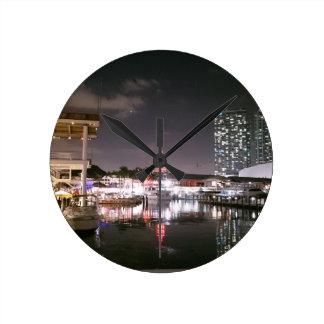 Relógio Redondo Mercado Miami de Bayside