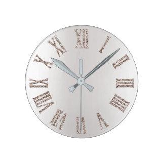 Relógio Redondo Metal mínimo de prata cinzento do brilho Titanium
