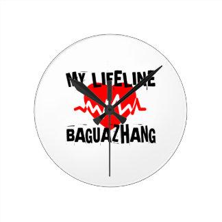RELÓGIO REDONDO MEU DESIGN DAS ARTES MARCIAIS DE LINA BAGUAZHANG