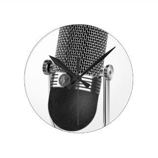 Relógio Redondo Microfone clássico