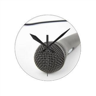Relógio Redondo Microfone - conversa a mim