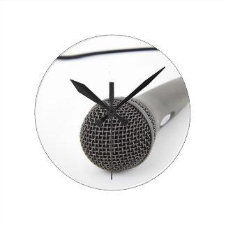 Relógio Redondo Microfone do estúdio