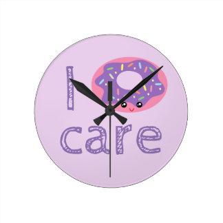 Relógio Redondo Mim emoji bonito do humor da chalaça da filhós do