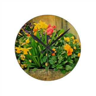 Relógio Redondo Mini jardim da primavera