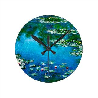 Relógio Redondo Monet-Água-Lírios de Claude