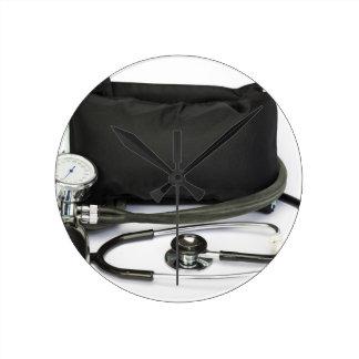 Relógio Redondo Monitor profissional preto da pressão sanguínea no