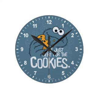 Relógio Redondo Monstro do biscoito | mim apenas aqui para os