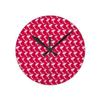 Relógio Redondo Montanha que sonha no por do sol