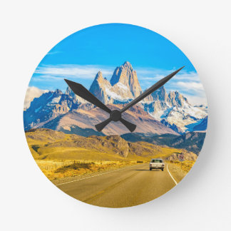 Relógio Redondo Montanhas nevado de Andes, EL Chalten, Argentina