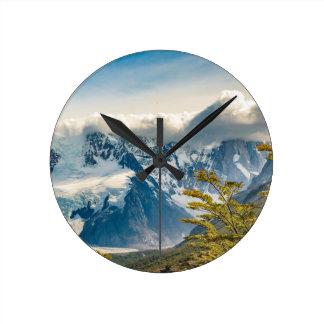 Relógio Redondo Montanhas nevado de Andes, EL Chalten Argentina
