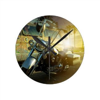 Relógio Redondo motocicleta