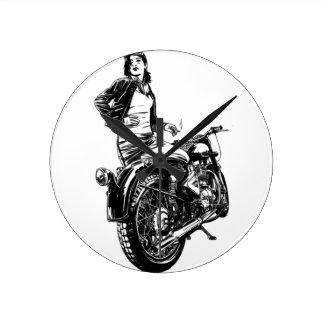 Relógio Redondo Motociclista