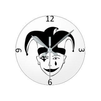 Relógio Redondo MTJ branco e preto