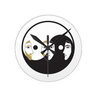 Relógio Redondo Mulher do homem de Yin Yang