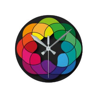 Relógio Redondo multi ornamento da cor