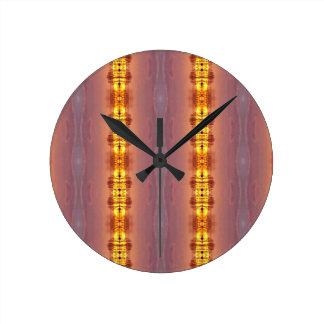 Relógio Redondo Multi teste padrão artístico colorido vibrante