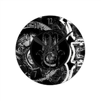 Relógio Redondo Musical que desperta (preto)