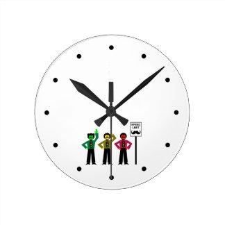 Relógio Redondo Mustachio temperamental do limite de velocidade do