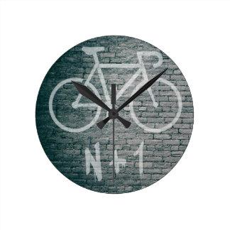 Relógio Redondo N+1 grafite da bicicleta