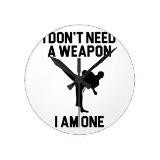 Relógio Redondo Não precise uma arma