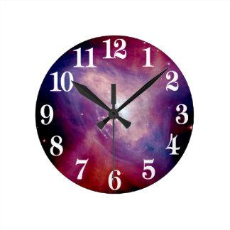 Relógio Redondo NASA da nebulosa do raio X do caranguejo de