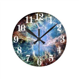 Relógio Redondo NASA do Supernova da nebulosa de caranguejo