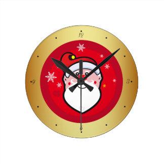 Relógio Redondo Natal Papai Noel