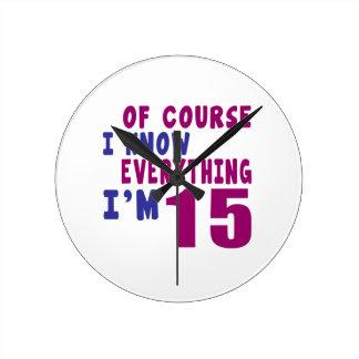 Relógio Redondo Naturalmente eu sei que tudo eu sou 15