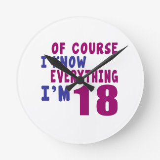 Relógio Redondo Naturalmente eu sei que tudo eu sou 18