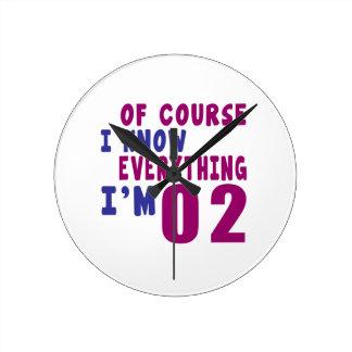 Relógio Redondo Naturalmente eu sei que tudo eu sou 2