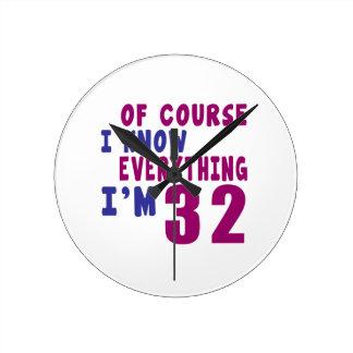 Relógio Redondo Naturalmente eu sei que tudo eu sou 32