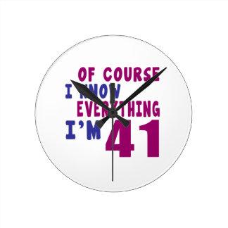 Relógio Redondo Naturalmente eu sei que tudo eu sou 41