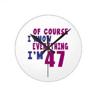 Relógio Redondo Naturalmente eu sei que tudo eu sou 47