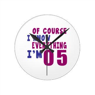 Relógio Redondo Naturalmente eu sei que tudo eu sou 5