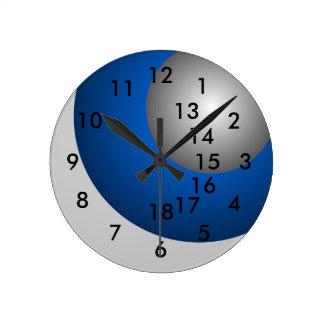 Relógio Redondo negócio do trabalho de horas extras do pulso de