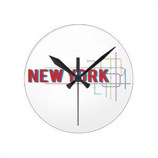 Relógio Redondo New York