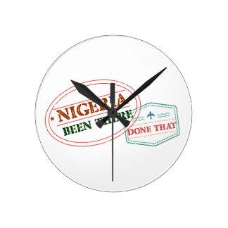Relógio Redondo Nigéria feito lá isso