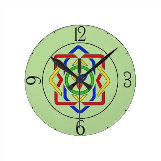 Relógio Redondo Nó celta da trindade