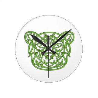 Relógio Redondo Nó do céltico do urso