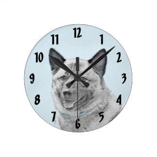 Relógio Redondo Norueguês Elkhound