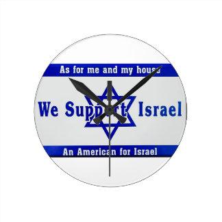 Relógio Redondo Nós apoiamos Israel
